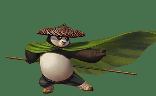Le mouvement du panda